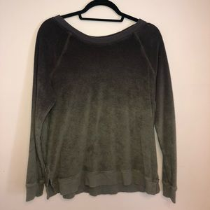 Green Ombré American Eagle Pullover